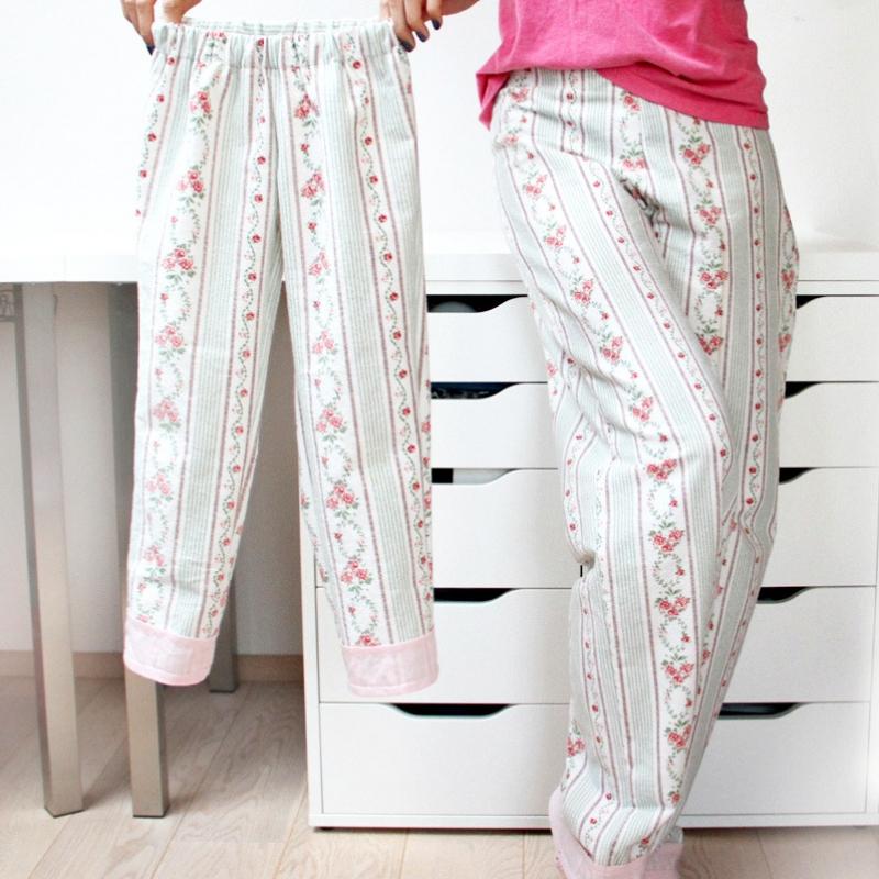 Střih - pyžamové kalhoty pro celou rodinu (dětské, dámské nebo pánské jednoduché tepláky z tkaniny)
